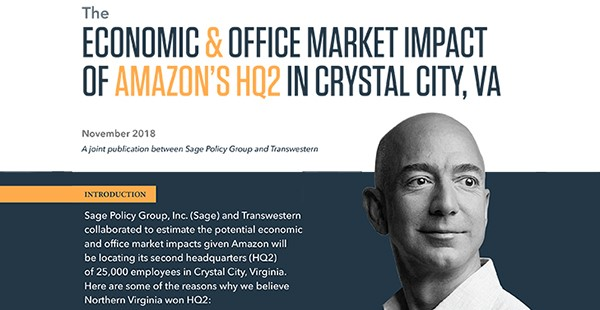"<span class=""blue1618""><strong>Economic & Office Market Impact of Amazon's HQ2 in Crystal City, VA</strong></span><br/><a href=""https://download.transwestern.com/public/MidAtlantic%20Region/Bethesda/Multifamily/Transwestern_Amazon_Impact_Nov2018.pdf"" class=""green1416"">Click here to read more</a>"